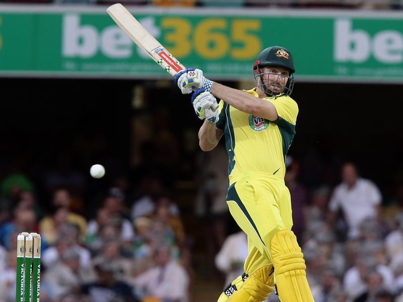Australia's Shaun Marsh plays a shot during the second One Day International cricket match between Australia and India in Brisbane on January 15, 2016. (AP Photo)