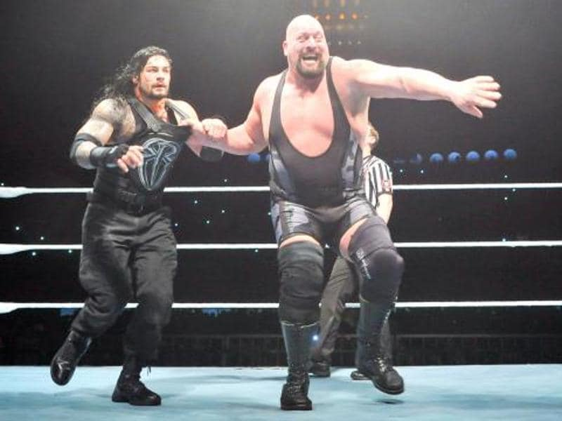 Action during the main event match between Big Show and Roman Reigns. (Photo: wwe.com)