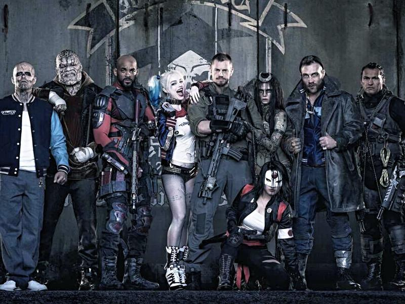 The first image released by Warner Bros. Notice the absence of Jared Leto's Joker.