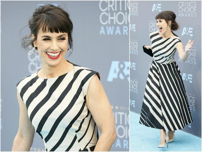 Actor Constance Zimmer, known for TV series Unreal, was seen in a monochromatic mood.