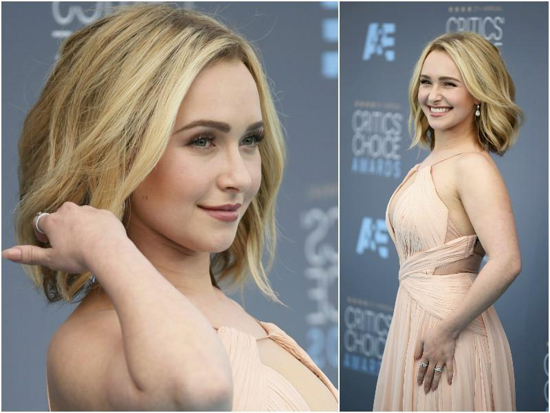 Heroes actor Hayden Panettiere looked so precious in this stunning dress as she made her first appearance after battling post-partum depression.