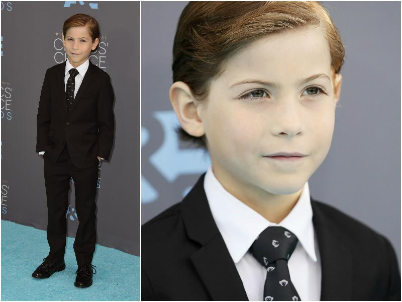Room actor Jacob Tremblay looked so sleek. He won the best supporting actor award.