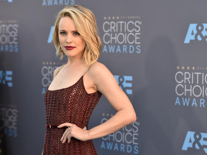 Rachel McAdams was a sight to behold in her Elie Saab gown at the 21st Annual Critics' Choice Awards in Santa Monica. (AP)