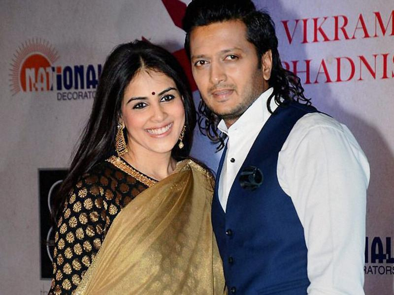 Bollywood actors Riteish Dehmukh and Genelia Dsouza at the gala. (PTI)