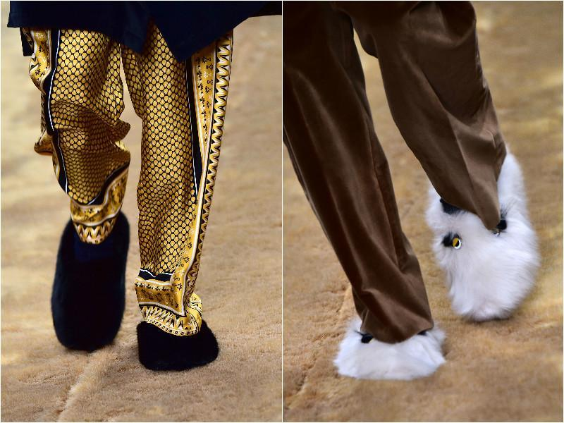 Golden pants and fur shoes from Fendi . (Agencies)