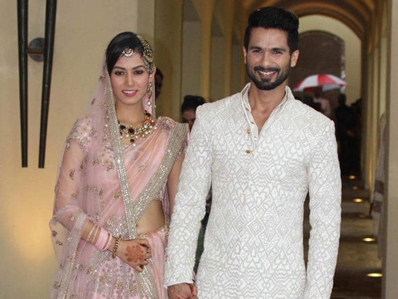 Mira and Shahid had a private ceremony in Delhi, followed by two receptions in the Capital and Mumbai. (HT Photo)