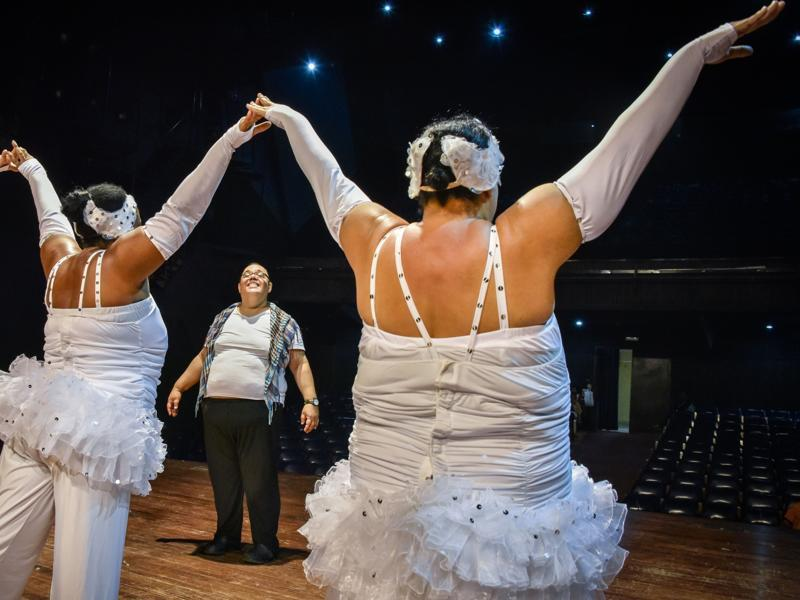 Other than dancing, the group also helps its members overcome negative emotions associated with being overweight.  (AFP)