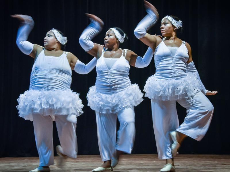 Based in Havana, the dance company gives talented oversized performers an opportunity to showcase their abilities.  (AFP)