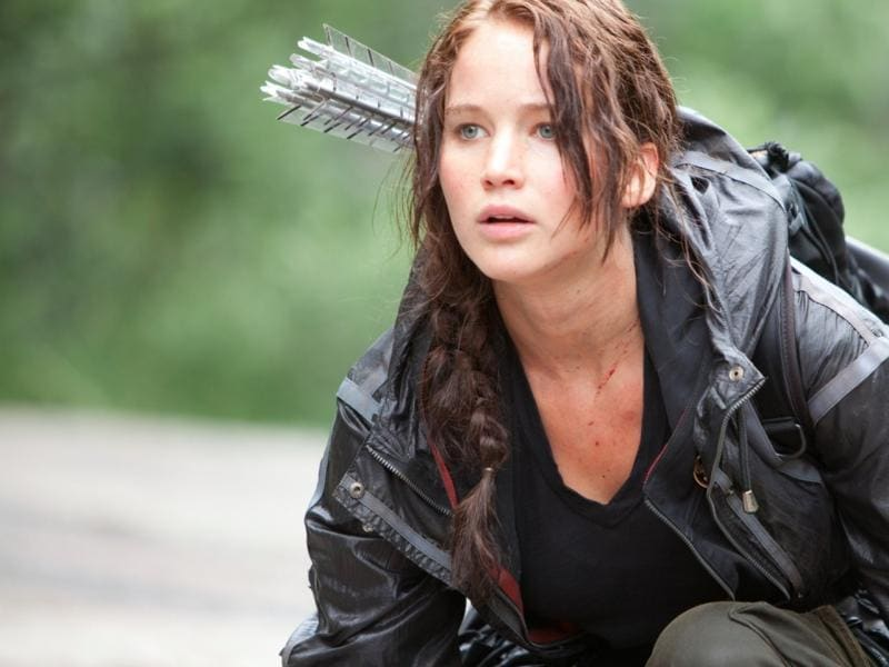 The Hunger Games (2012). Lawrence's star rose to stratospheric hights after her iconic performance as Katniss Everdeen in an adaptation of Suzanne Collins' hit novels.