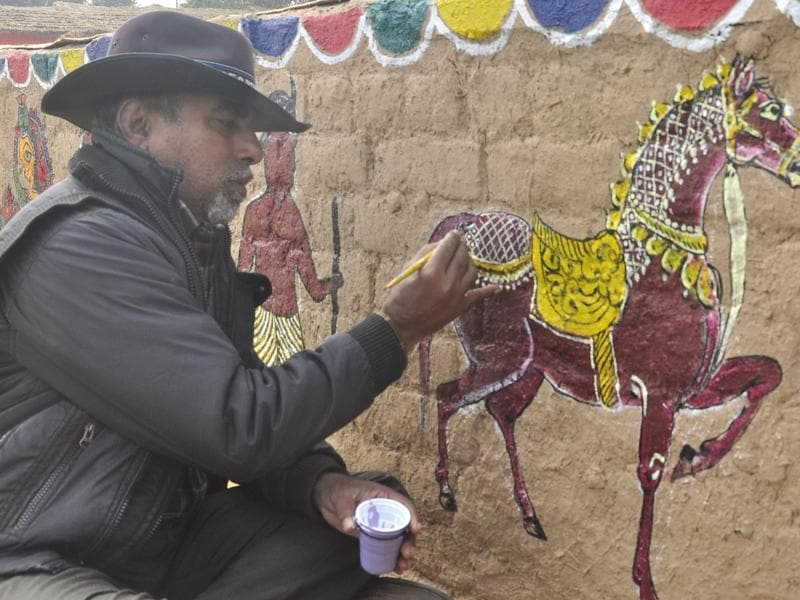 The National crafts Mela is set to begin on January 22 and will continue till January 31.   (Sant Arora/HT Photo)