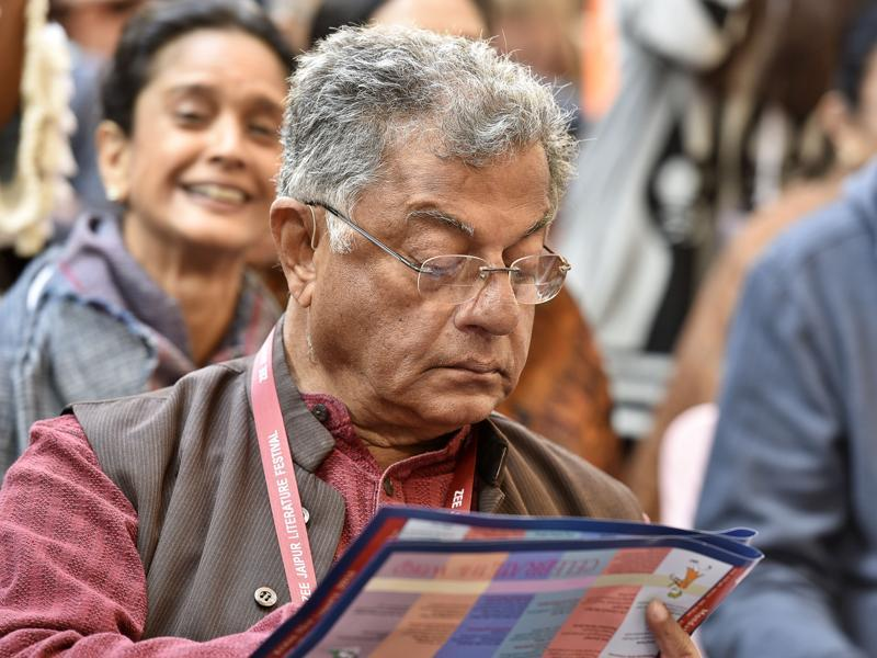 Actor, film director, writer and playwright Girish Karnad is seen during the inauguration of the JLF. (Sanjeev Verma/ HT Photo)