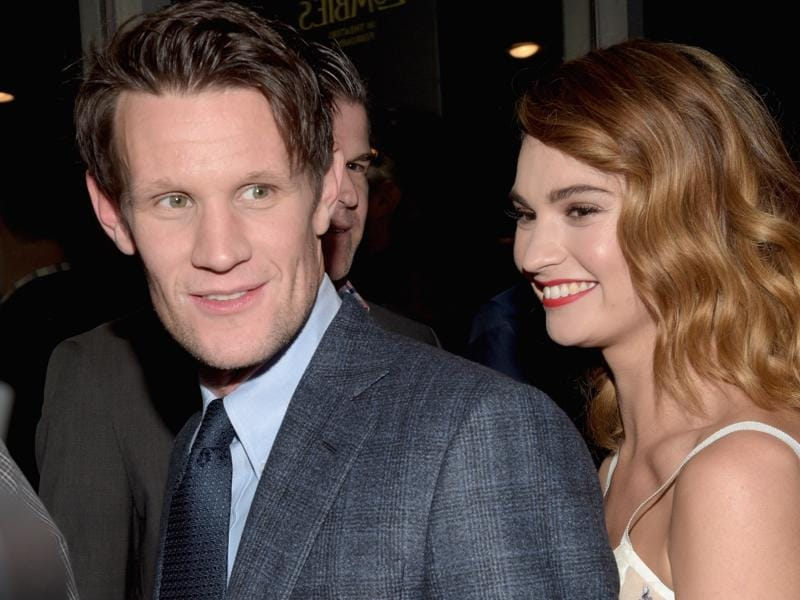 Actors Matt Smith and Lily James attend the world premiere of Screen Gems' Pride and Prejudice and Zombies based on the novel by Seth Grahame-Smith. (AFP)
