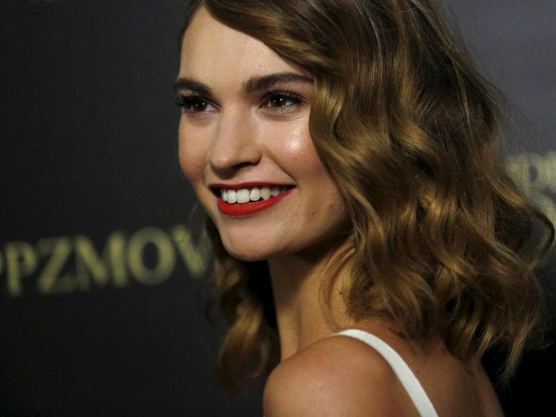 Cinderella star Lily James arrives for the premiere of the horror comedy Pride and Prejudice and Zombies in Los Angeles, California. (REUTERS)