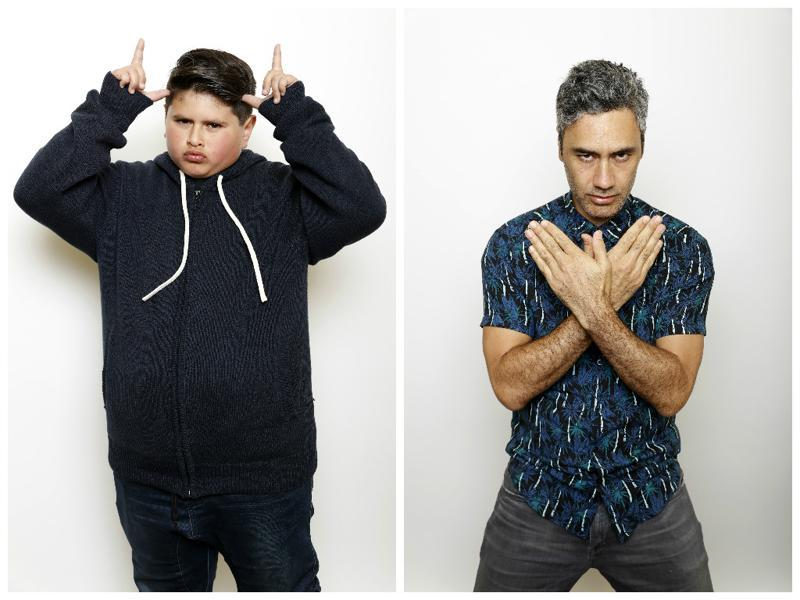 Actor Julian Dennison and director Taika Waititi pose to promote the film Hunt for the Wilderpeople at the Sundance Film Festival. (AP)