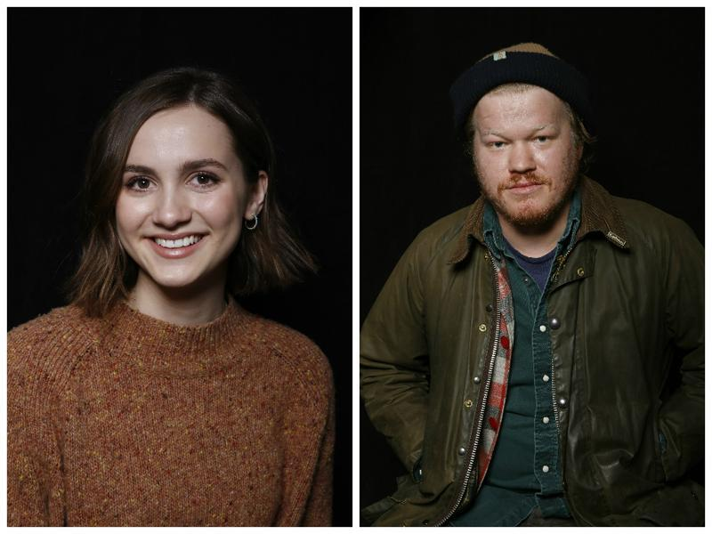 Maude Apatow and Jesse Plemons star in Other People and here, they pose to promote it at the ongoing Sundance Film Festival. (AP)