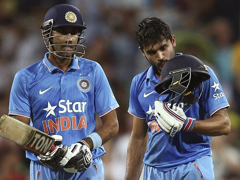 India's Manish Pandey kisses his helmet after  hitting a century. (AP Photo)