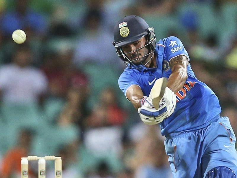 India's Manish Pandey plays a shot during their One Day International cricket match. (AP Photo)