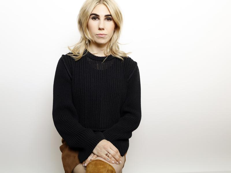 Actress Zosia Mamet from the hit show Girls poses for a portrait to promote the film, Wiener-Dog, at the Toyota Mirai Music Lodge during the Sundance Film Festival. (AP)