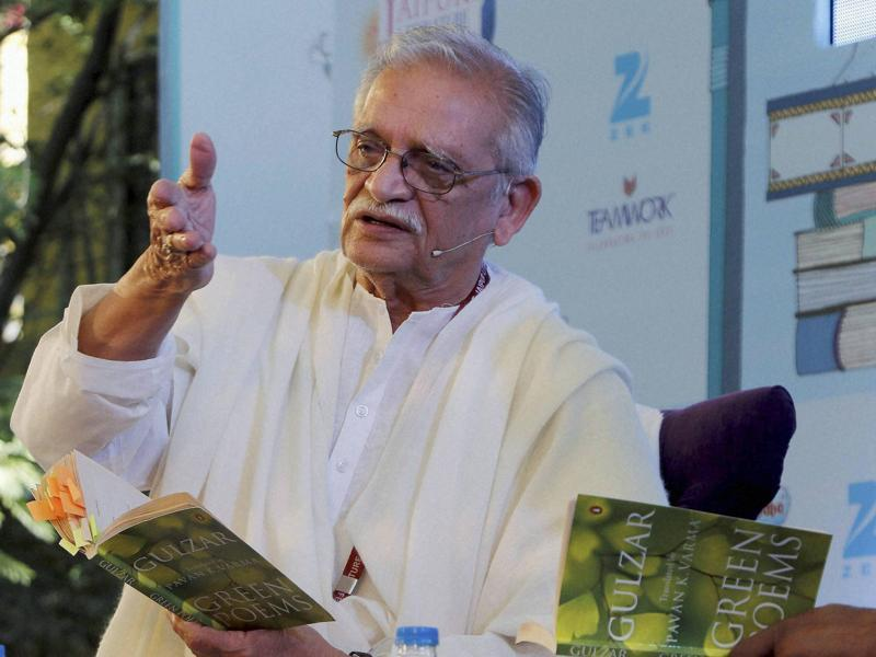 Lyricist and Poet Gulzar got a rousing welcome when he took to the stage for his session on Sunday. (PTI)
