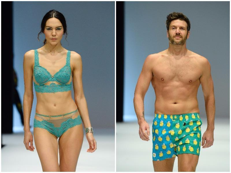 One of the most obvious trends for any lingerie season is the colour blue. (AFP)