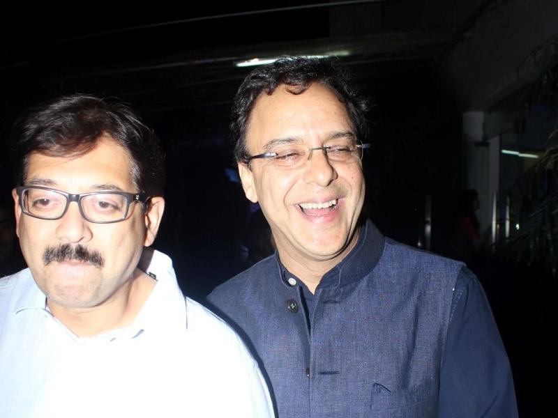 Filmmaker Vidhu Vinod Chopra at the special screening of Saala Khadoos.  (IANS)