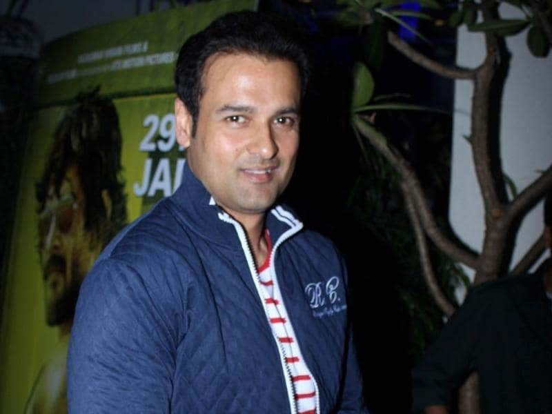 Rohit Roy attends the special screening of Saala Khadoos in Mumbai.  (IANS)