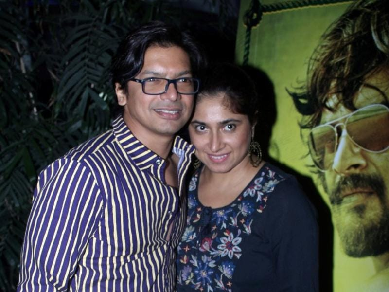 Singer shaan and his wife Radhika during the special screening of Saala Khadoos in Mumbai. (IANS)