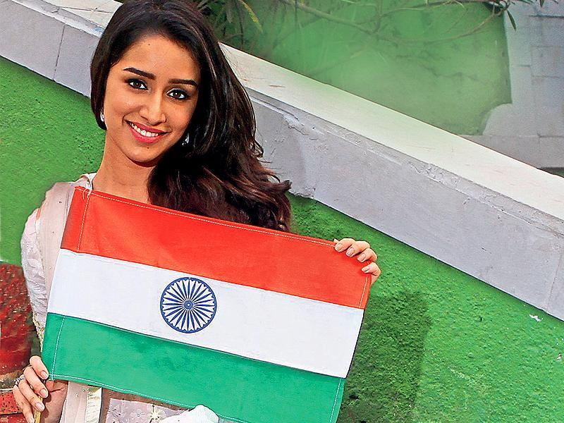 """I hope India flourishes and we all grow together. I see the country progressing in education, technology, business and in every other aspect,"" said Shraddha Kapoor."