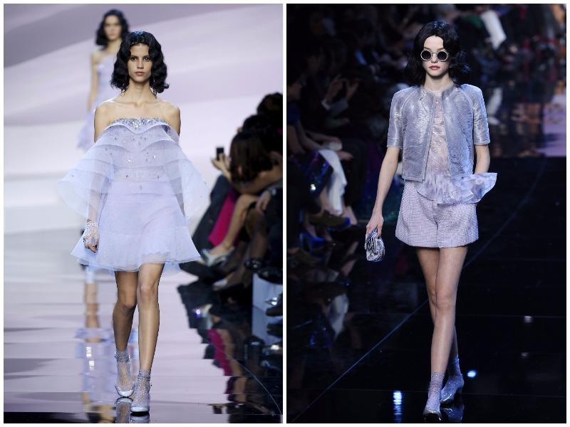 A designer with over five decades of experience, Armani may not be the most cutting edge at couture week but he is an expert at giving his customers the good old fashioned glamour they crave. In essence, this was mauve madness (AFP)