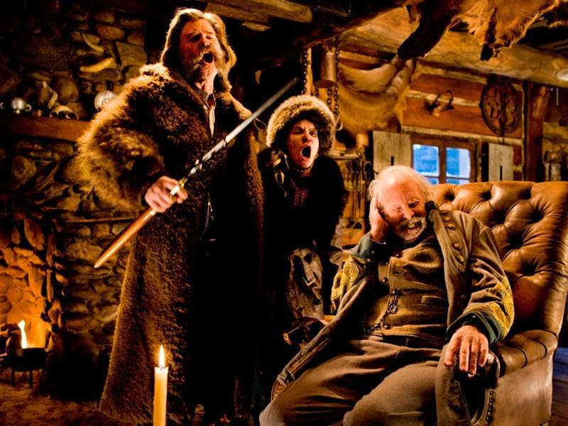The Hateful Eight (2015): In the dead of a Wyoming winter, a bounty hunter and his prisoner find shelter in a cabin currently inhabited by a collection of nefarious characters.