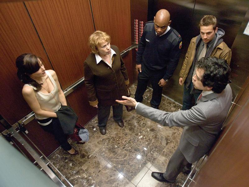 Devil (2010): A group of people are trapped in an elevator and the Devil is mysteriously amongst them.