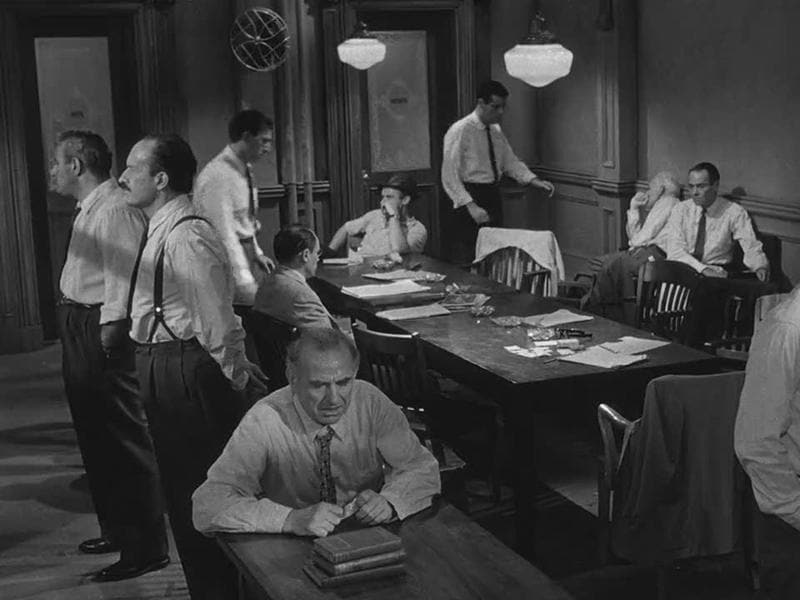 12 Angry Men (1957): A dissenting juror in a murder trial slowly manages to convince the others that the case is not as obviously clear as it seemed in court.