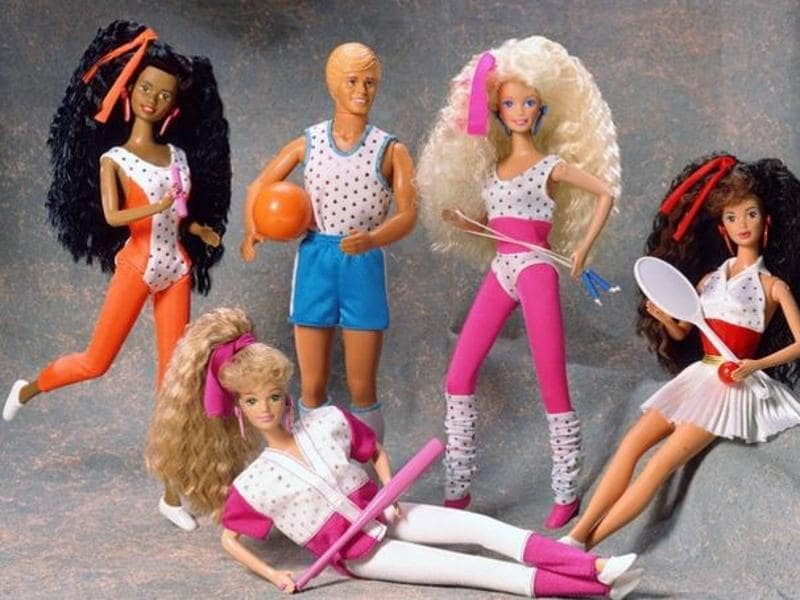 "1989's ""Barbie and The All Stars"" collection. (Mattel)"