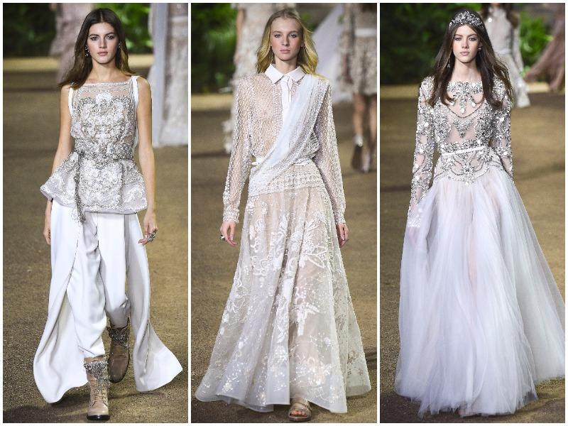 The globally popular Lebanese fashion designer  added an Indian zing to his Haute Couture showcase in Paris by taking inspiration from saree  and salwar kameez.  Proof. (AFP/ AP/ Reuters)