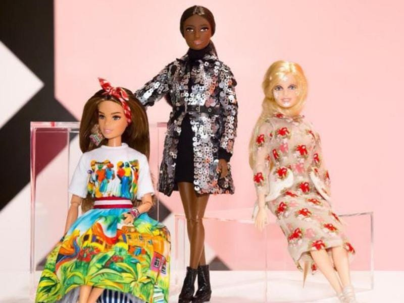 Barbies wearing clothes designed specially by famous designers in 2015. (Mattel)