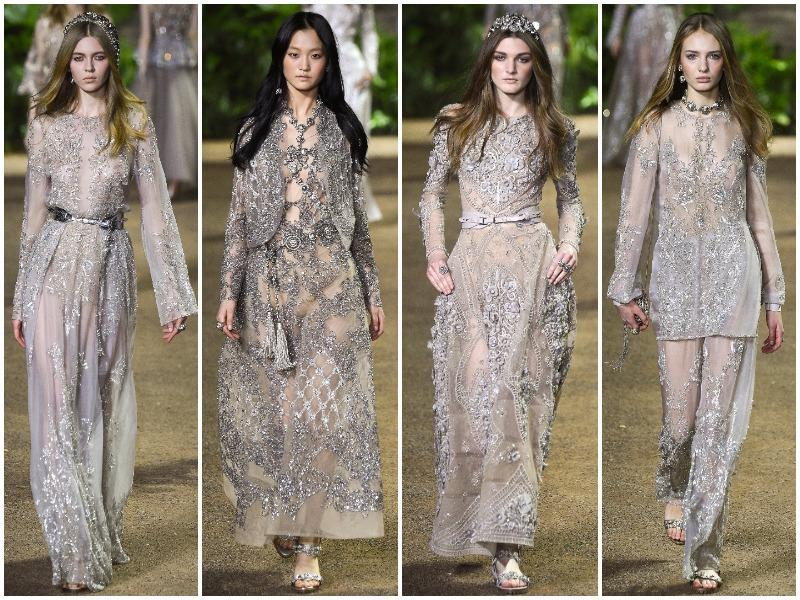 Elie Saab left behind the cedars of his Lebanon and found a new land to conquer: India. We loved how heat and dust mingled with the British Empire inspire his new styles.  (AFP/ AP/ Reuters)