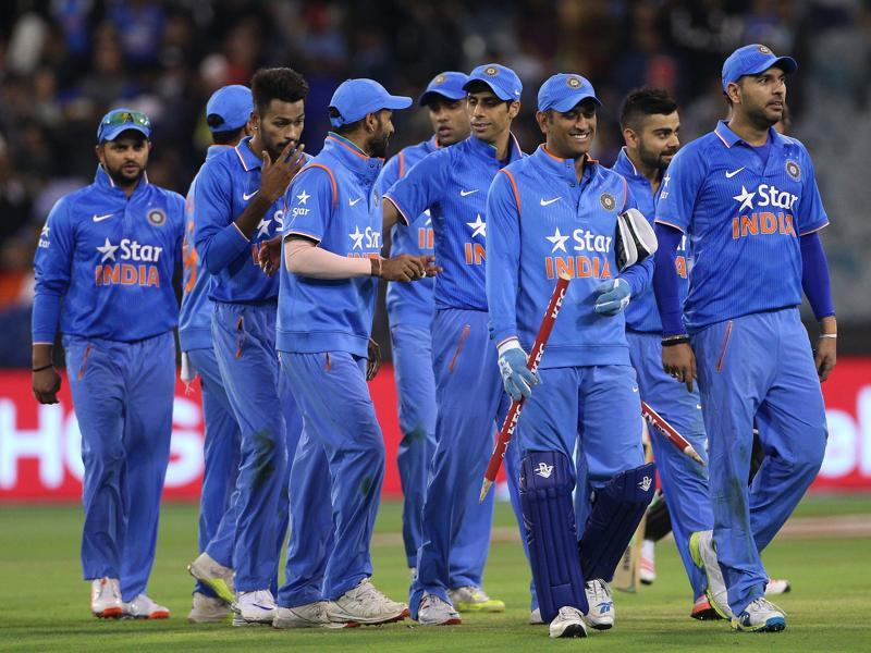 India leave the field after their victory against Australia. (REUTERS Photo)