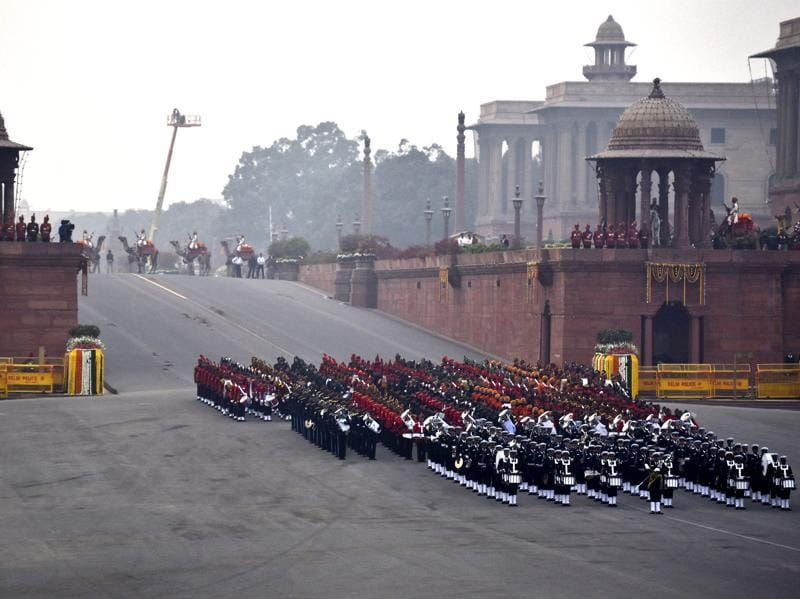 This year, 15 Military Bands, 18 Pipes and Drums Bands from Regimental Centres and Battalions participated in the ceremony. (Ajay Aggarwal/HT Photo)
