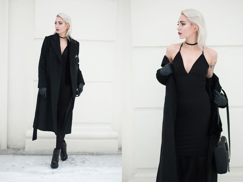 Monika, a 23 year old graphic designer from Warsaw, Poland acing the choker. (lookbook.NU)