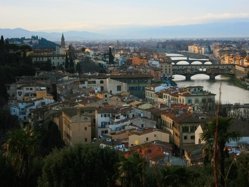 View of Florence from the Michelangelo Hill, a short hike from the Ponte Vecchio bridge over the river Arno.   (Picture courtesy: Mad Art Photography)