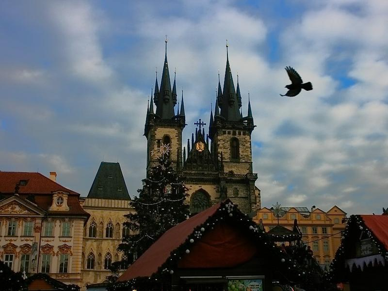 The 'Church of our lady before Tyn' is situated at the Old Town square. Its two conical columns symbolise a feminine and a masculines structure visible in their unequal sizes, according to the locals.     (Picture courtesy: Mad Art Photography)