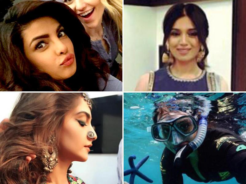 Sonam Kapoor, Sonakshi Sinha and Priyanka Chopra are some of the celebs who love sharing pictures on Instagram. Take a look at what they had to share in last 24 hours. (Instagram)