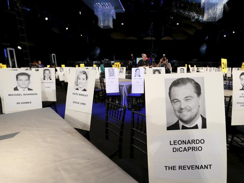 Titanic cast mates Leonardo DiCaprio and Kate Winslet will be seated next to each other at the 22nd annual Screen Actors Guild Awards at the Shrine Auditorium in Los Angeles. (REUTERS)