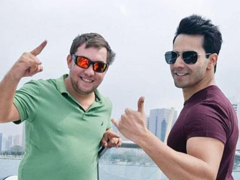 Varun Dhawan with his trainer Tony. (Twitter)