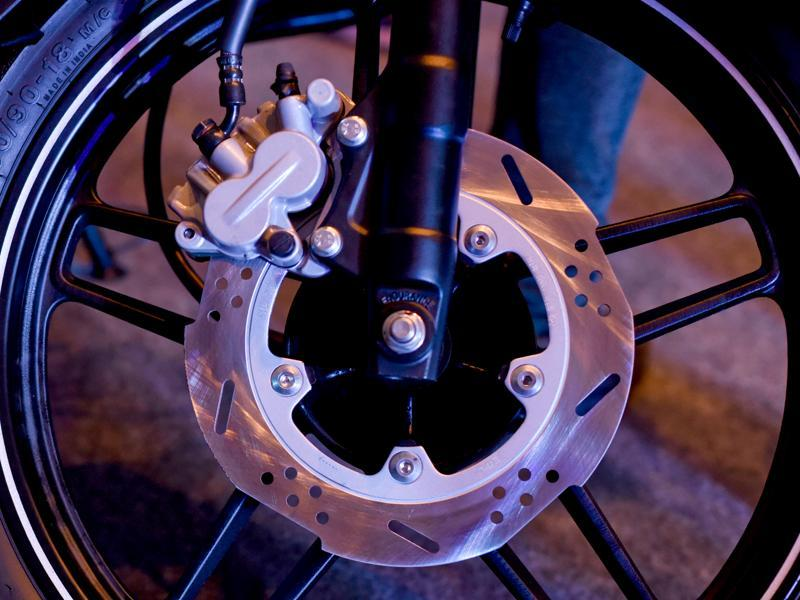 The alloy wheels add to the aggressive stance of the bike. (Vipin Kumar /HT Photo )