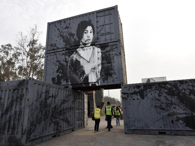 WIP (Work in Progress) is a month-long exhibition opening on February 1 at the Inland Container Depot (ICD) in Tughlakabad, the largest dry port in Asia.  (Sanjeev Verma/ HT Photo)