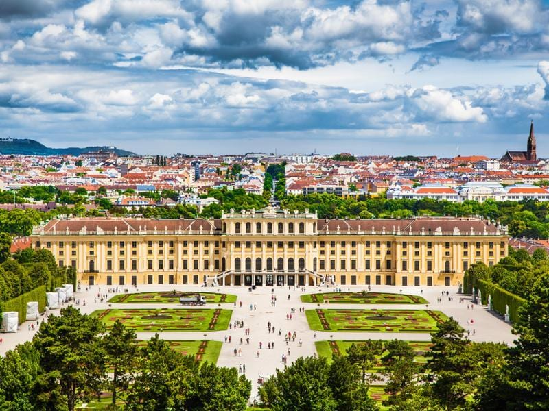 Schönbrunn Palace is surrounded by formal gardens designed by Jean Trehet, a pupil of the French landscape architect André Le Nôtre, who designed the gardens at Versailles. This Habsburg family residence has an adjoining zoo, which is the oldest in the world. (Shutterstock)
