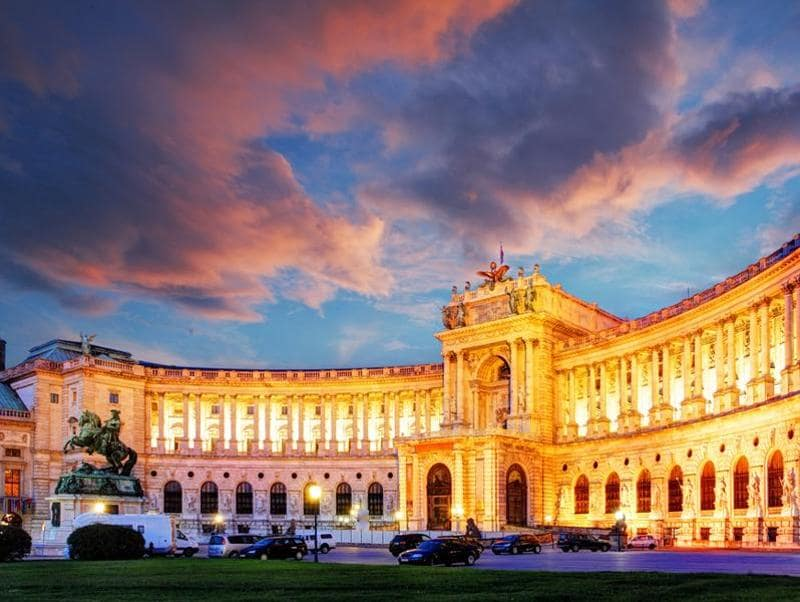 Hofburg Imperial Palace: This is Vienna's biggest palace. A top tourist sight gracing all the city's postcards, the Hofburg Palace is Vienna's answer to Buckingham Palace. Once occupied by the ruling Habsburg family, the palace is today home to the office of the President of Austria.  (Shutterstock)
