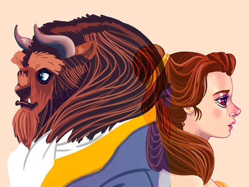Tale as Old as Time: Inspired by Belle and The Beast from Beauty and the Beast. (Gallery1988)