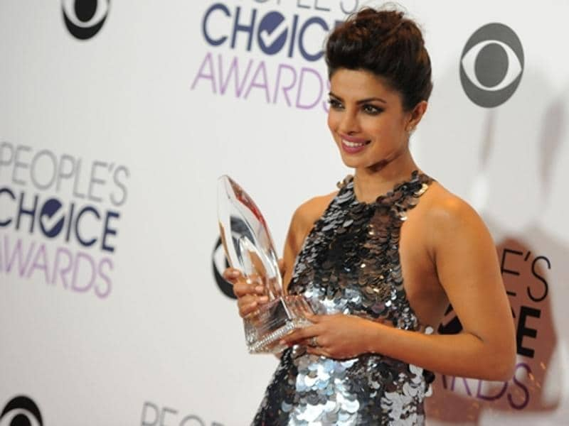 Priyanka Chopra, won the award for Favourite Actress In A New TV Series for Quantico at the People's Choice Awards 2016.  (AFP)